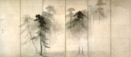 Japanese screen pines