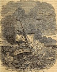 ship stormy sea