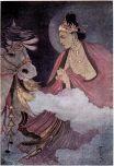 Siddhartha Buddha departing