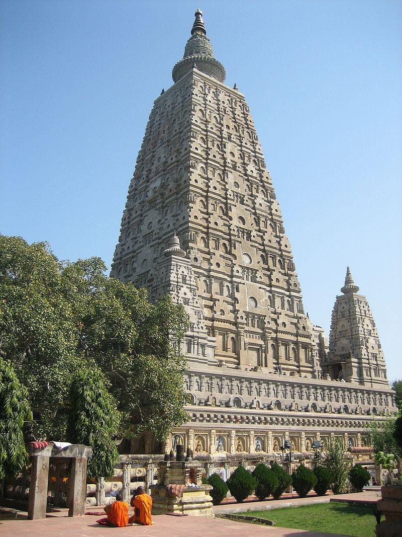 Temple and Bodhi Tree at Bodh Gaya