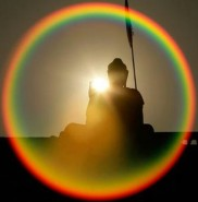 Buddha sunset spectrum
