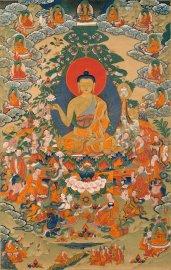 Buddha teaching followers