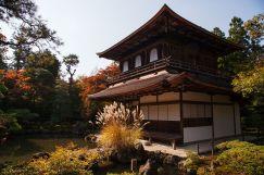 japanese zen temple sunset pond
