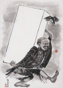 Puhua carrying coffin