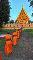 theravada temple procession