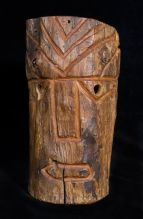wooden post carving