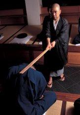 Zen master strikes student