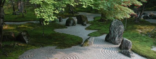 Zen Rock garden stream