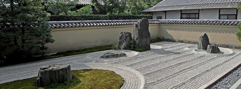 zen rock garden waves