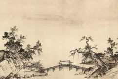 chinese landscape with bridge