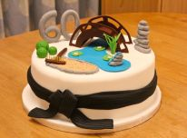 zen garden birthday cake